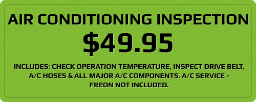 Air Conditioning Inspection $49.95
